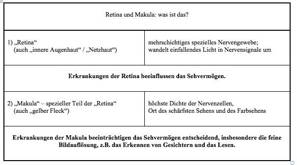 Retina und Makula - was ist das?