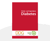 Gesundheitspass Diabetes rot