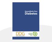Gesundheitspass Diabetes blau