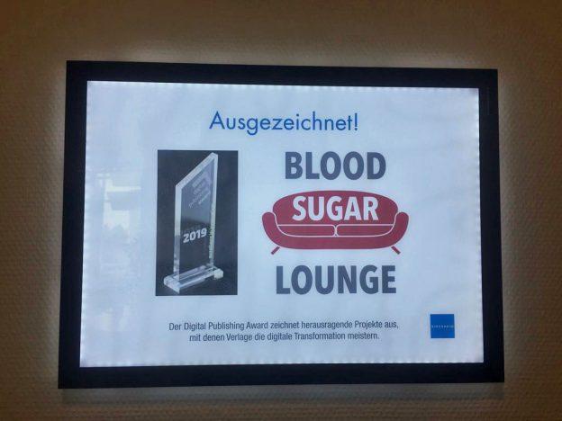 Aiszeichnugn für die Blood Sugar Lounge des Kirchheim-Verlages